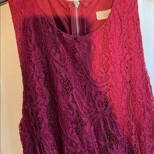 Francesca's Collections Dresses - Francesca's Maroon Lace Semi-Formal Dress